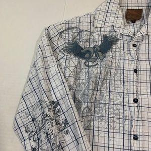 Roar Shirts - Roar Embroidered Logo Button Shirt M